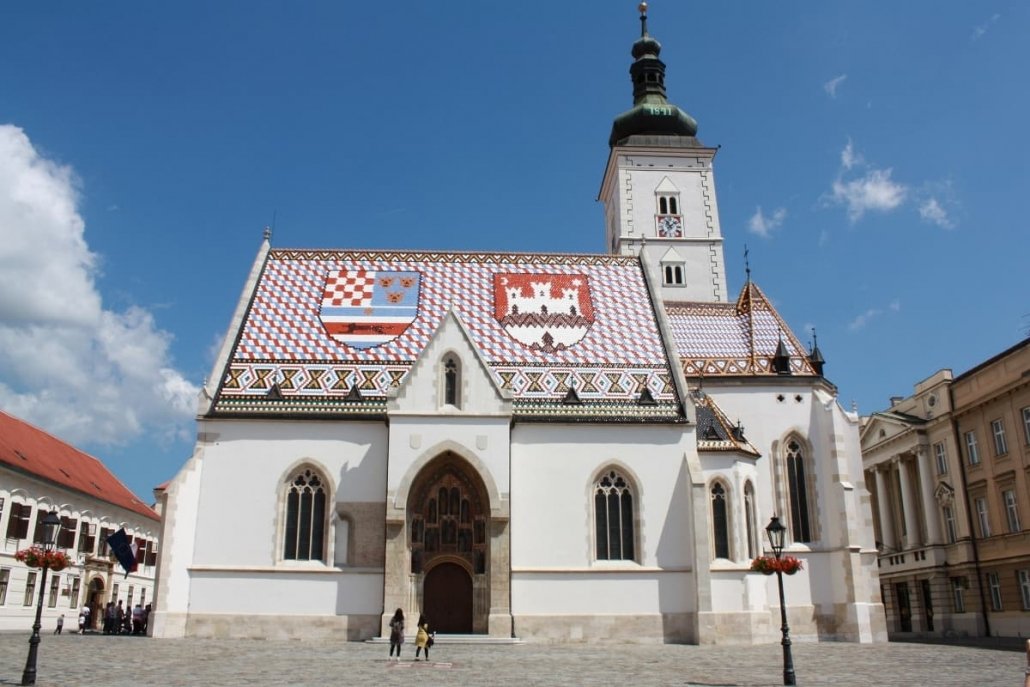St. Mark`s Church - a monument in Zagreb