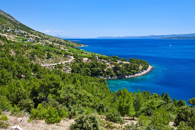 Beautiful nature of island of Brač in Croatia