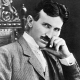 A photograph of Nikola Tesla