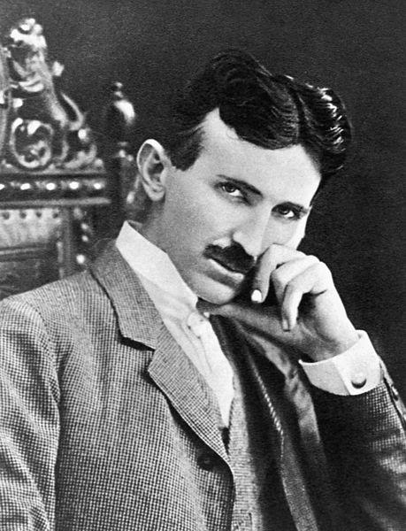 A photograph of Nikola Tesla