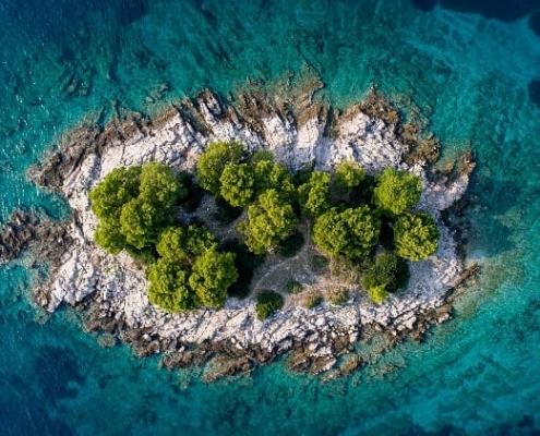Beautiful islands and islets in Croatia
