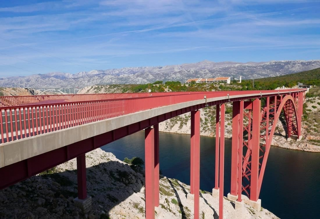 Maslenica bridge for bungee jumping